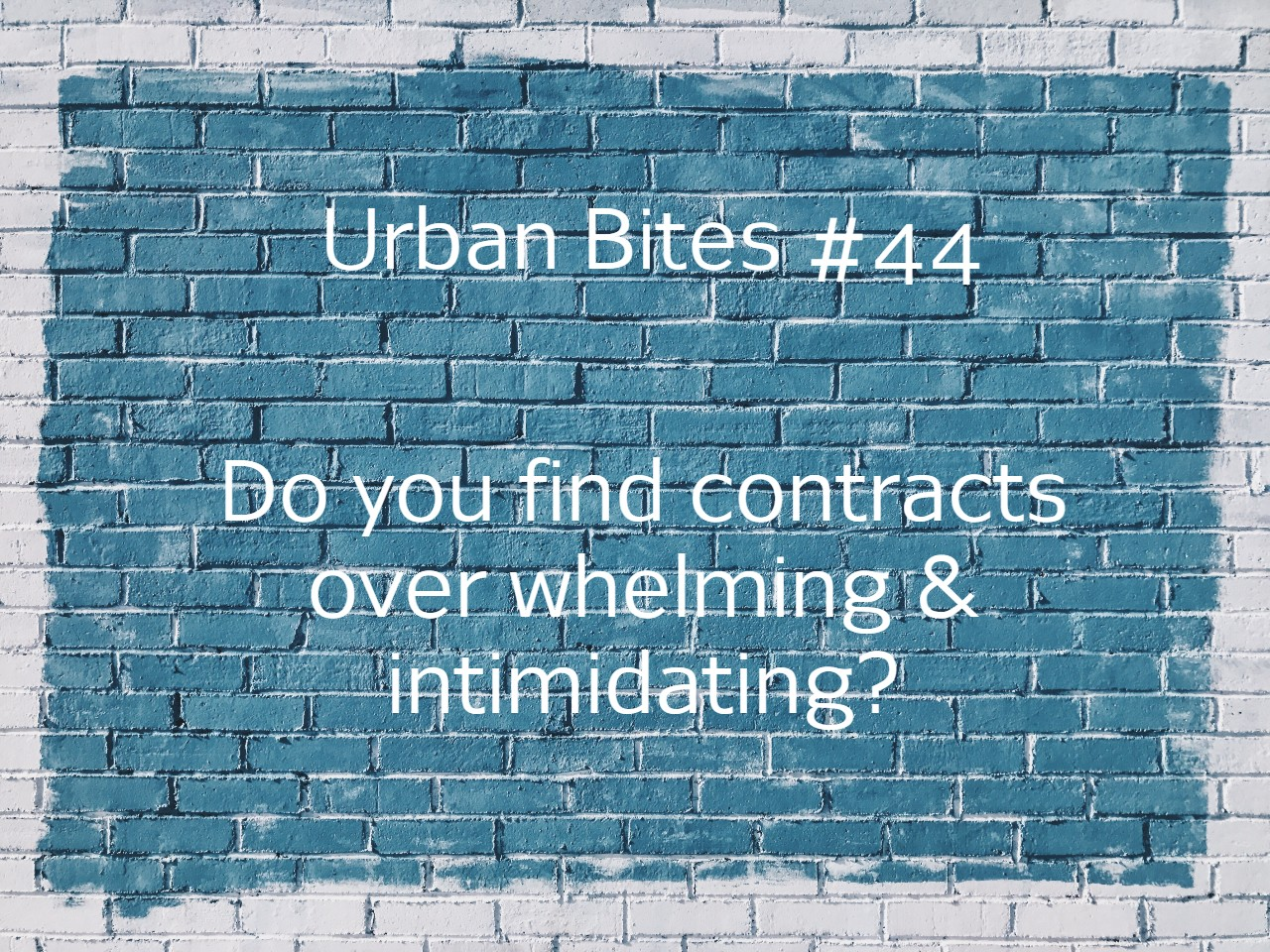 Do you find construction projects over whelming & intimidating