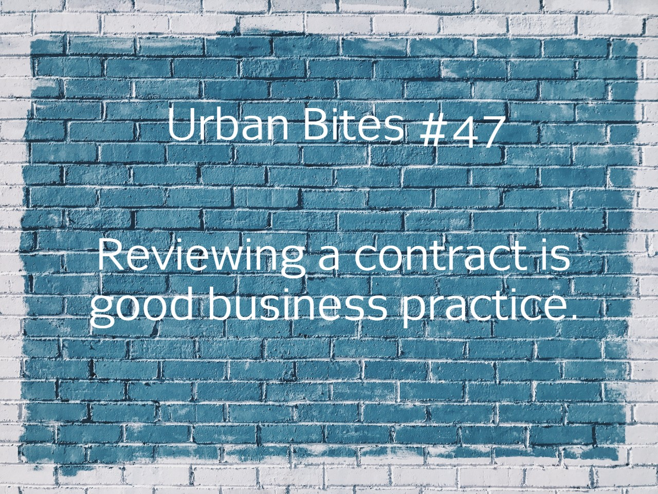 Reviewing a construction is good business practice